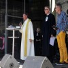 (von links) Pfr. Hugo Gehring von St. Peter und Paul, Pfr. Thomas Plaz-Lutz von der Stadtkirche und Johannes Wirth, Prediger der Gemeinschaft von Christen GvC.