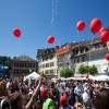 Mit den Kinderwünschen steigen die Ballone in den Himmel.